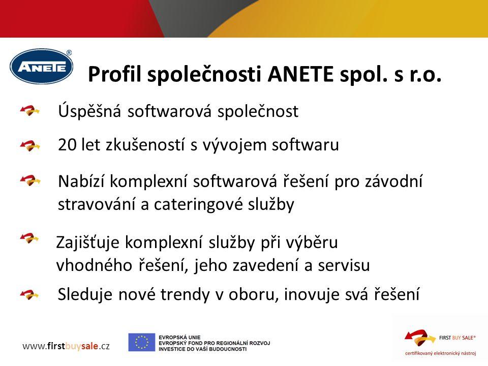 Profil společnosti ANETE spol. s r.o.