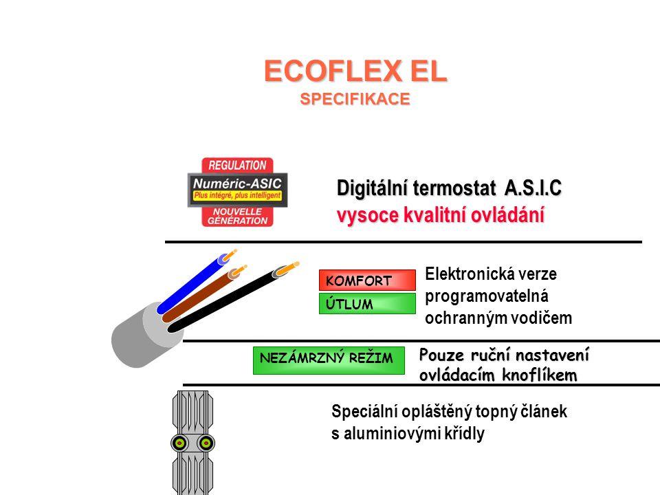 ECOFLEX EL Digitální termostat A.S.I.C vysoce kvalitní ovládání
