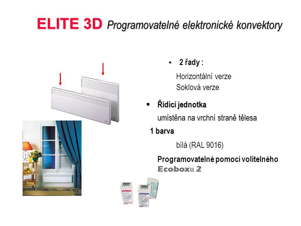 ELITE 3D Programovatelné elektronické konvektory