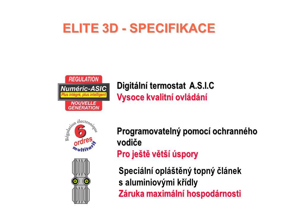 ELITE 3D - SPECIFIKACE Digitální termostat A.S.I.C