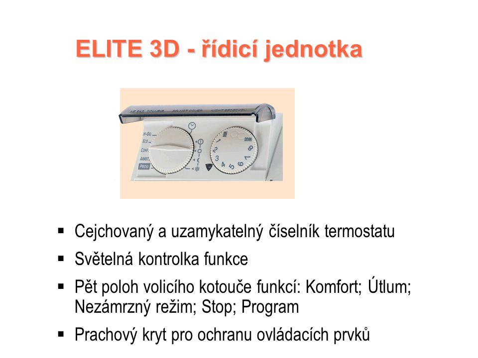 ELITE 3D - řídicí jednotka