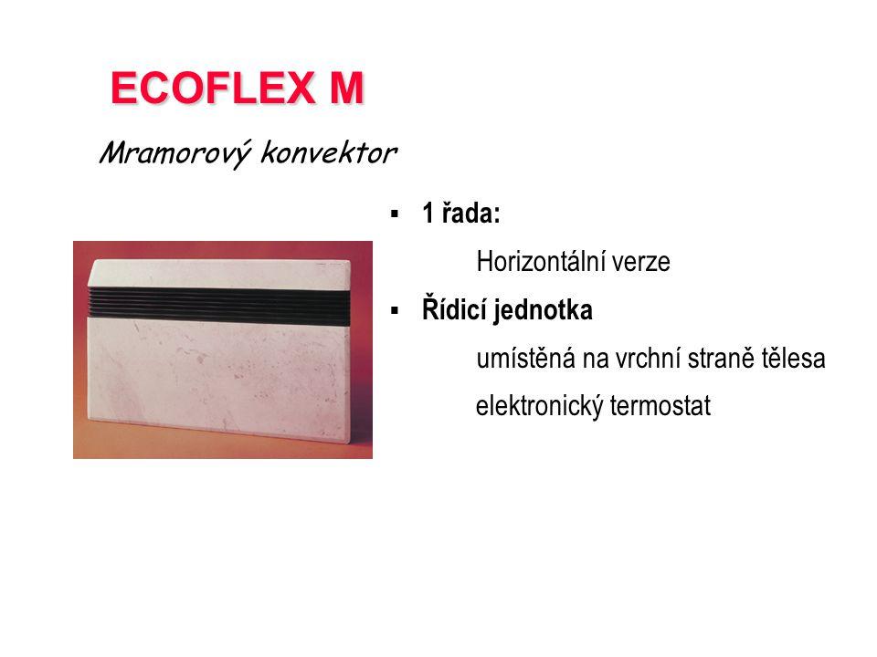 ECOFLEX M Mramorový konvektor 1 řada: Horizontální verze