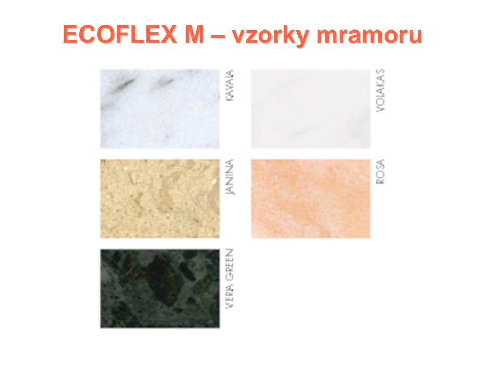 ECOFLEX M – vzorky mramoru