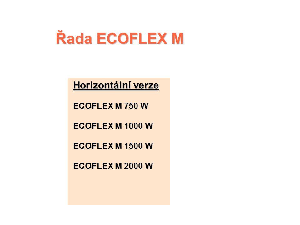 Řada ECOFLEX M Horizontální verze ECOFLEX M 750 W ECOFLEX M 1000 W