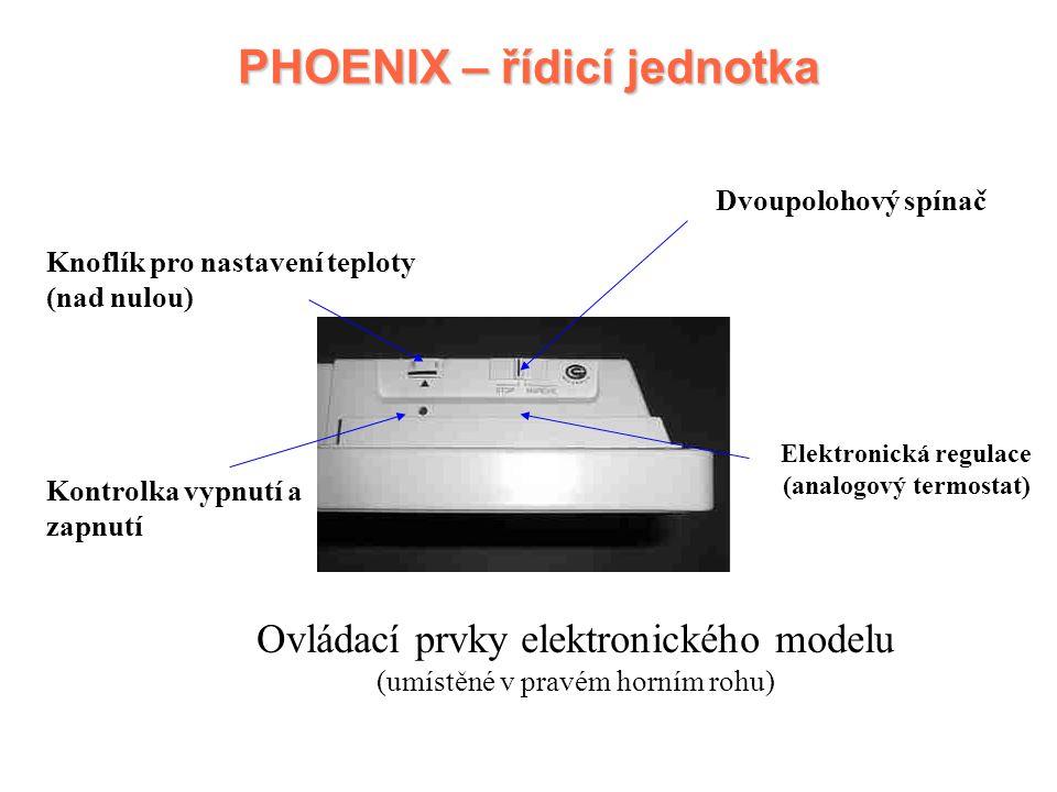 PHOENIX – řídicí jednotka Elektronická regulace (analogový termostat)