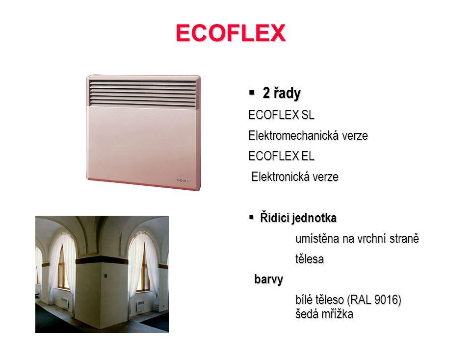 ECOFLEX 2 řady ECOFLEX SL Elektromechanická verze ECOFLEX EL
