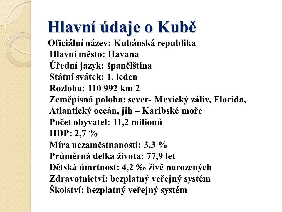 Hlavní údaje o Kubě