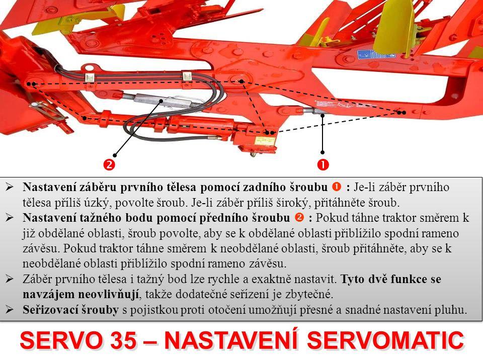 SERVO 35 – NASTAVENÍ SERVOMATIC