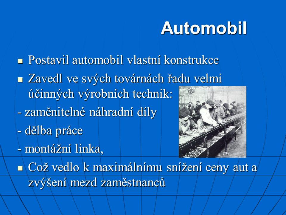 Automobil Postavil automobil vlastní konstrukce