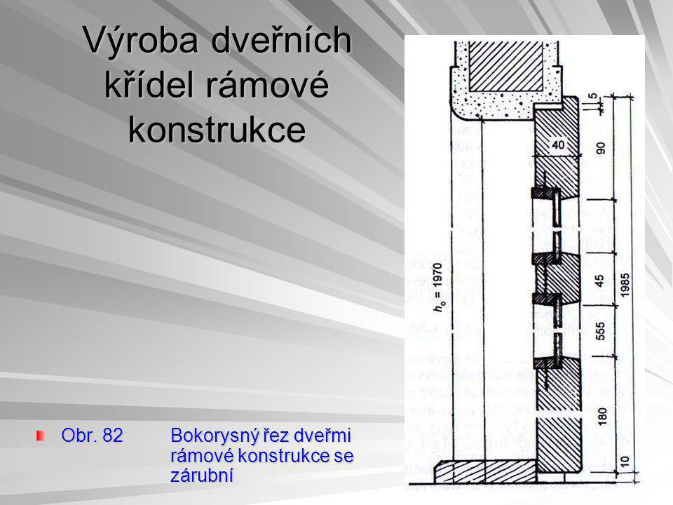 Výroba dveřních křídel rámové konstrukce