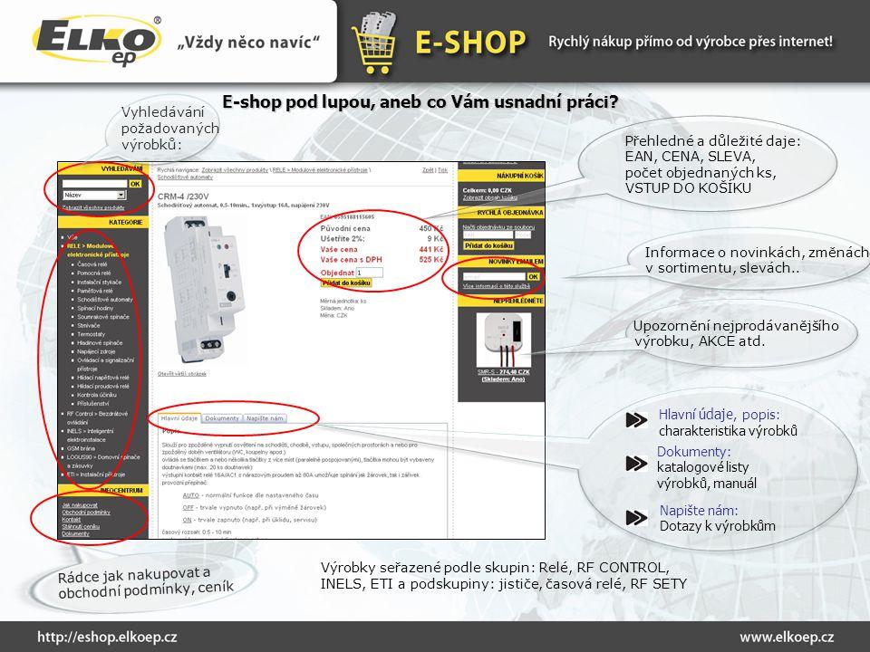 E-shop pod lupou, aneb co Vám usnadní práci