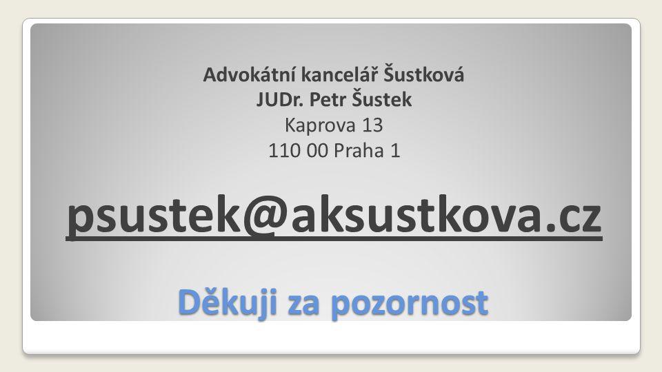 Advokátní kancelář Šustková