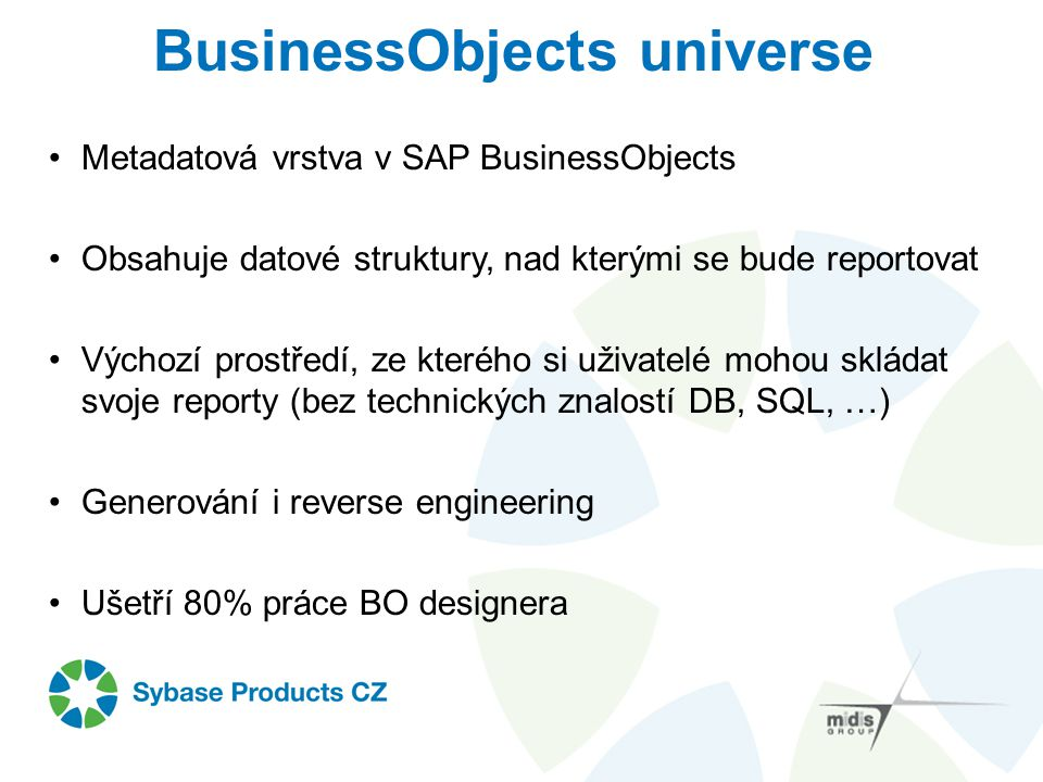 BusinessObjects universe