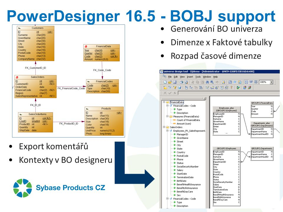 PowerDesigner BOBJ support