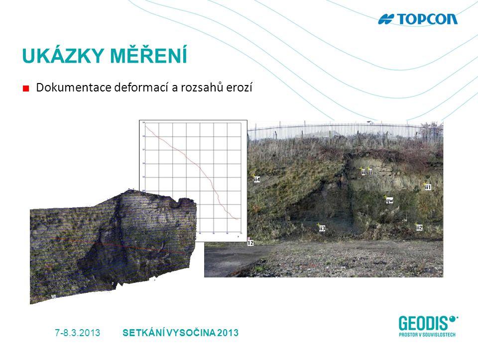 UKÁZKY MĚŘENÍ ■ Dokumentace deformací a rozsahů erozí 7-8.3.2013