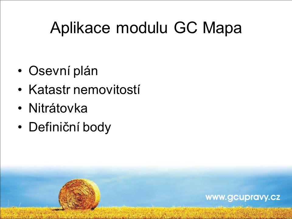 Aplikace modulu GC Mapa
