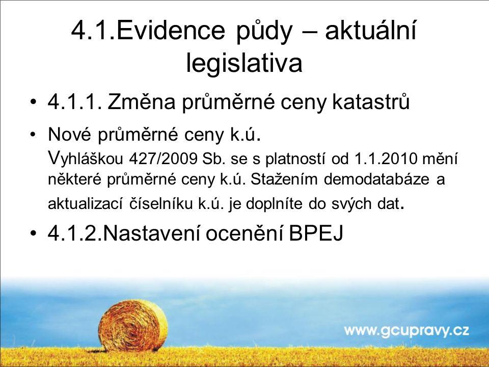 4.1.Evidence půdy – aktuální legislativa