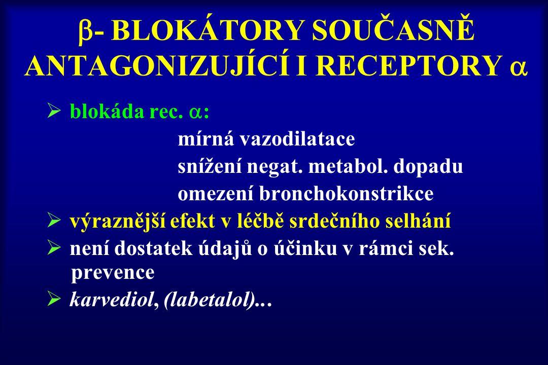 - BLOKÁTORY SOUČASNĚ ANTAGONIZUJÍCÍ I RECEPTORY 