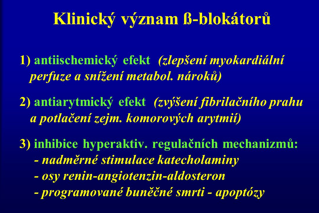 Klinický význam ß-blokátorů