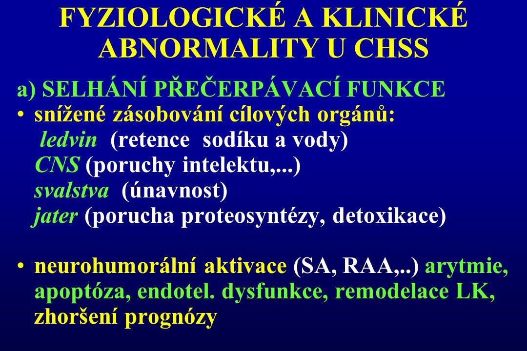 FYZIOLOGICKÉ A KLINICKÉ ABNORMALITY U CHSS