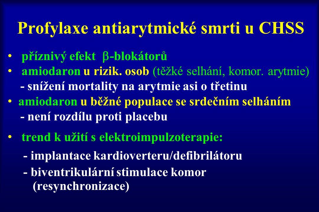 Profylaxe antiarytmické smrti u CHSS