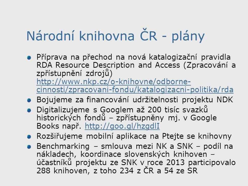 Národní knihovna ČR - plány