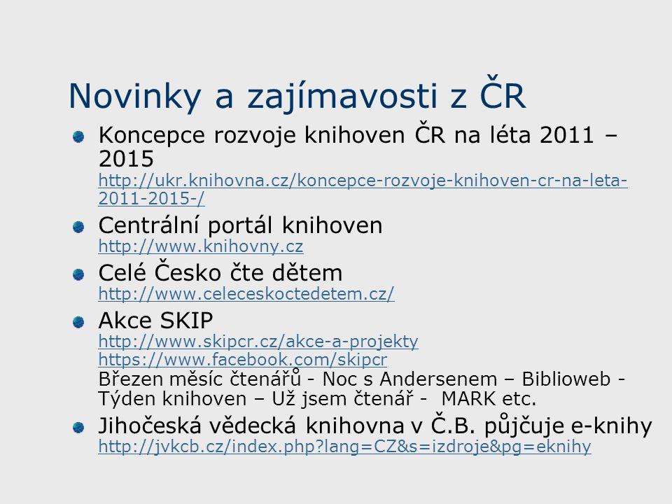 Novinky a zajímavosti z ČR