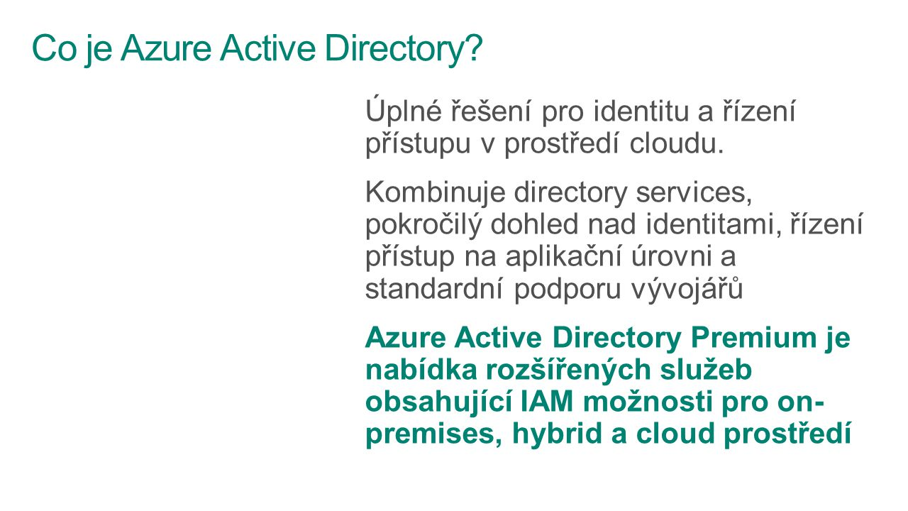 Co je Azure Active Directory