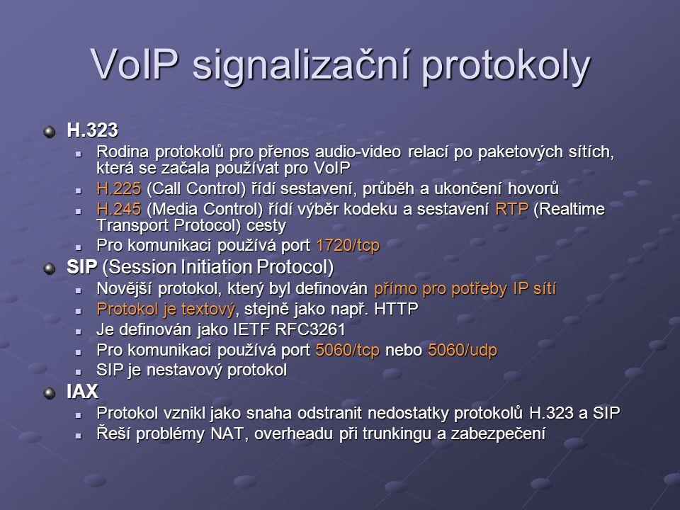 VoIP signalizační protokoly