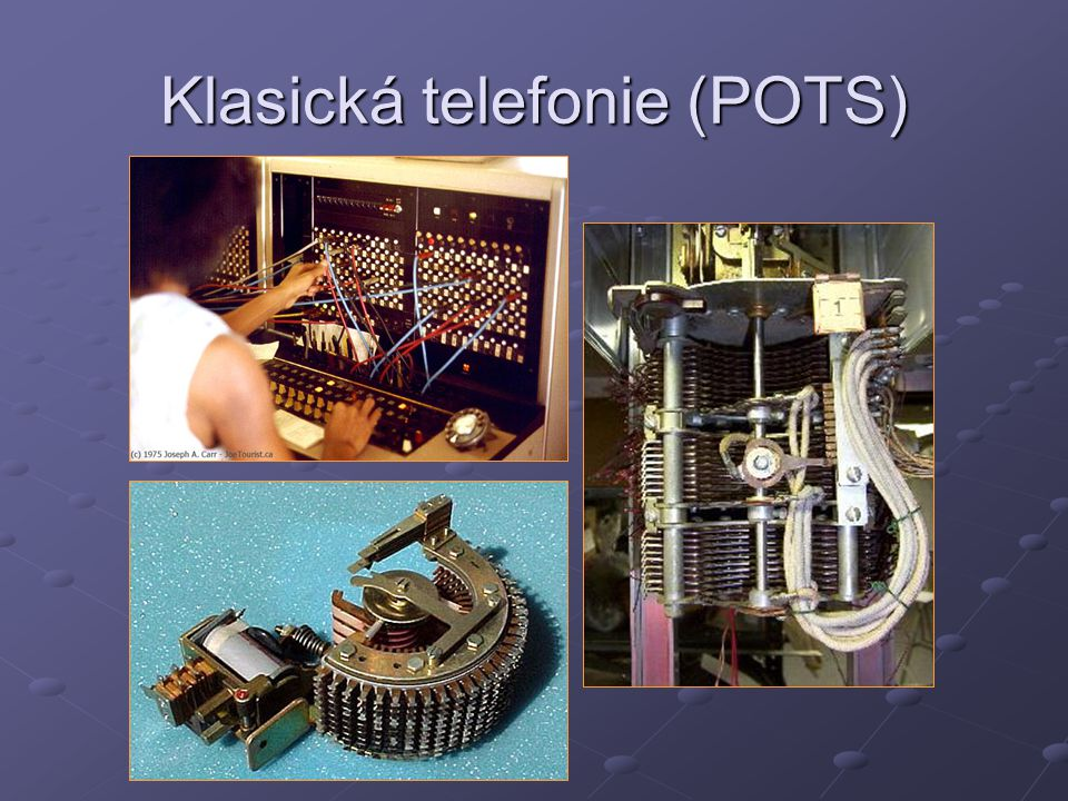 Klasická telefonie (POTS)