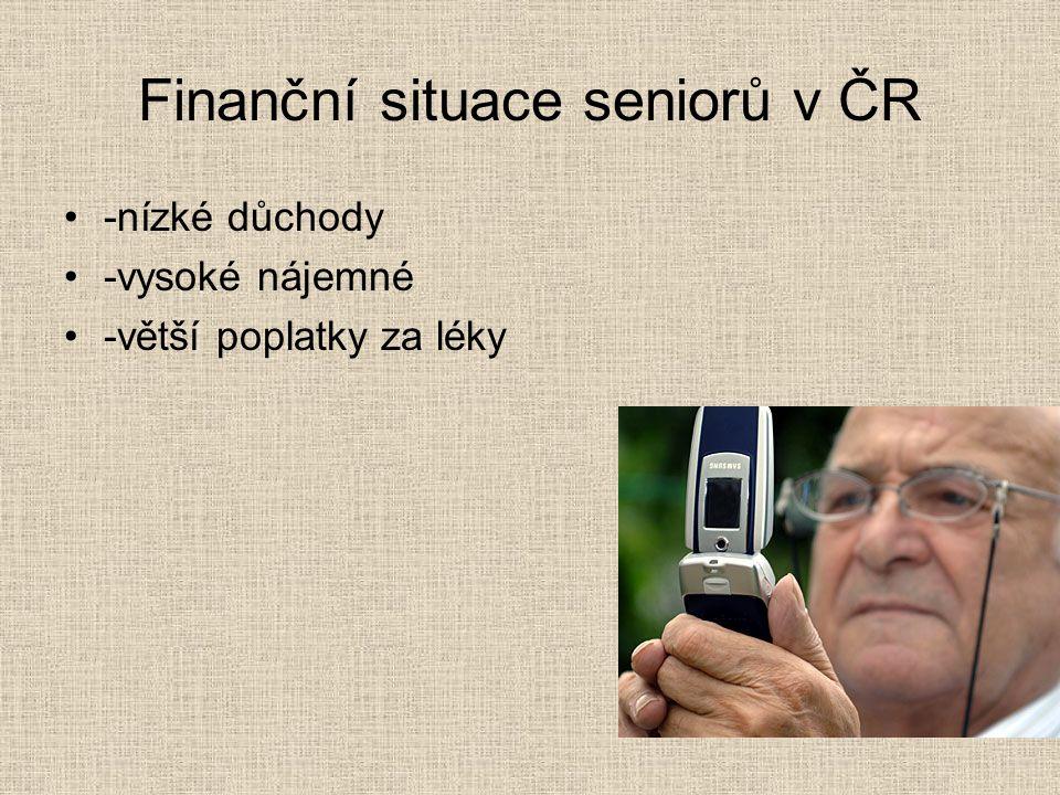 Finanční situace seniorů v ČR