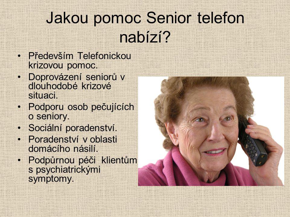 Jakou pomoc Senior telefon nabízí