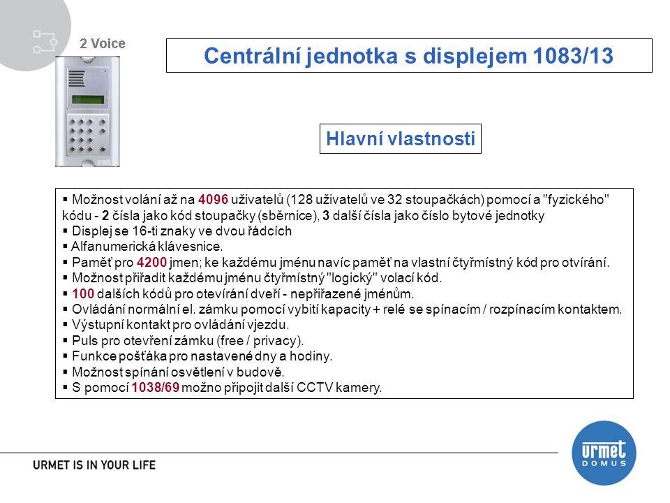 Centrální jednotka s displejem 1083/13