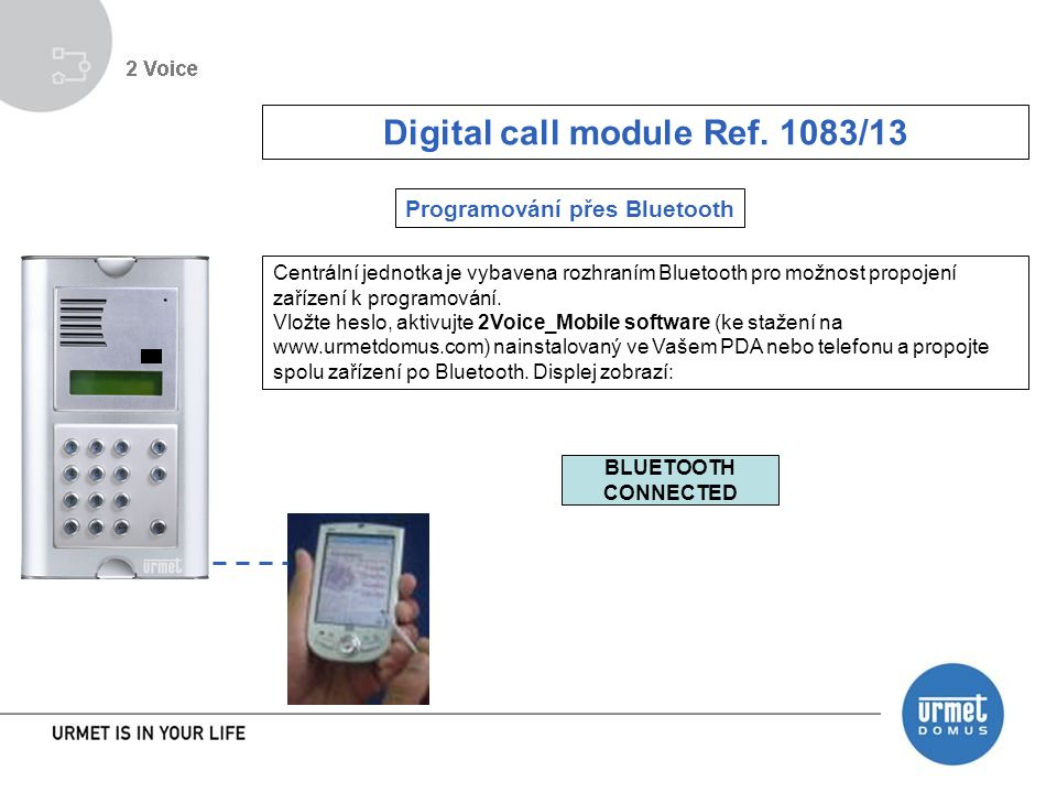 Digital call module Ref. 1083/13