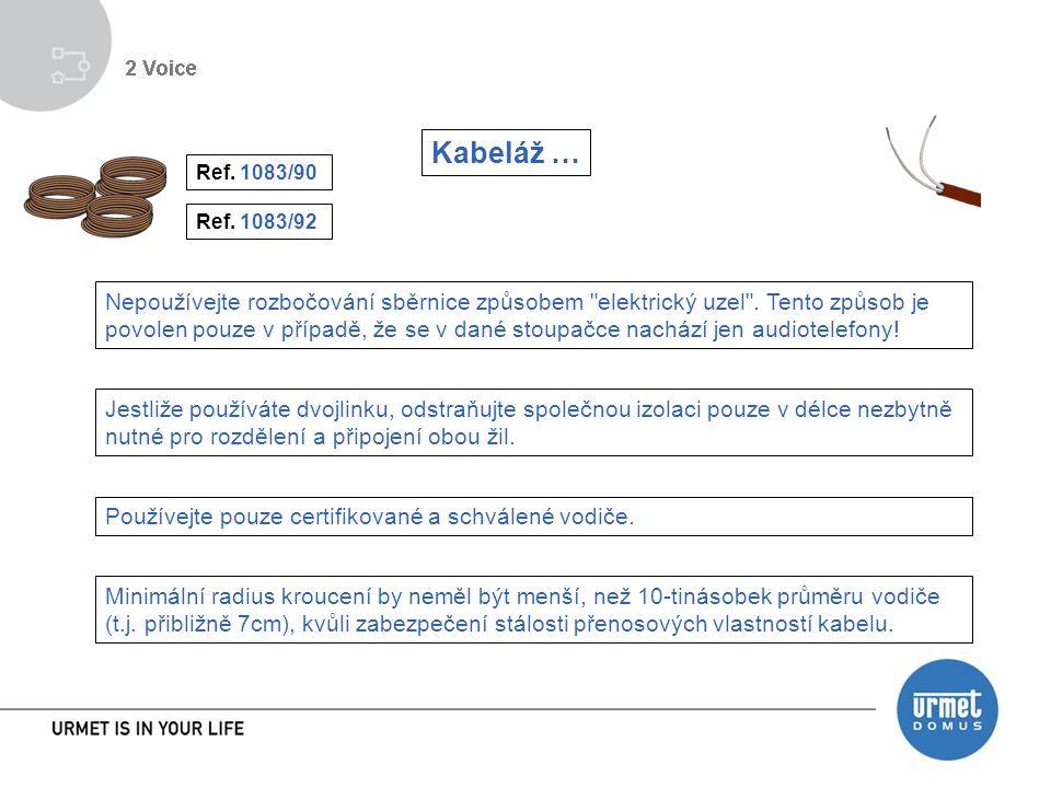 Kabeláž … Ref. 1083/90. Ref. 1083/92.