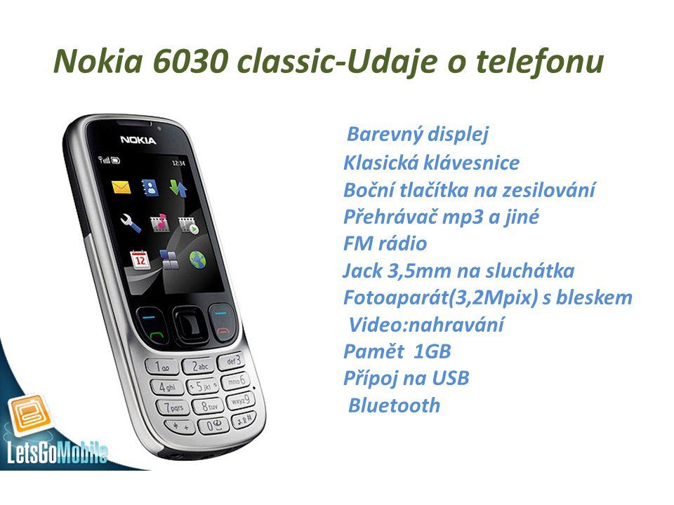 Nokia 6030 classic-Udaje o telefonu