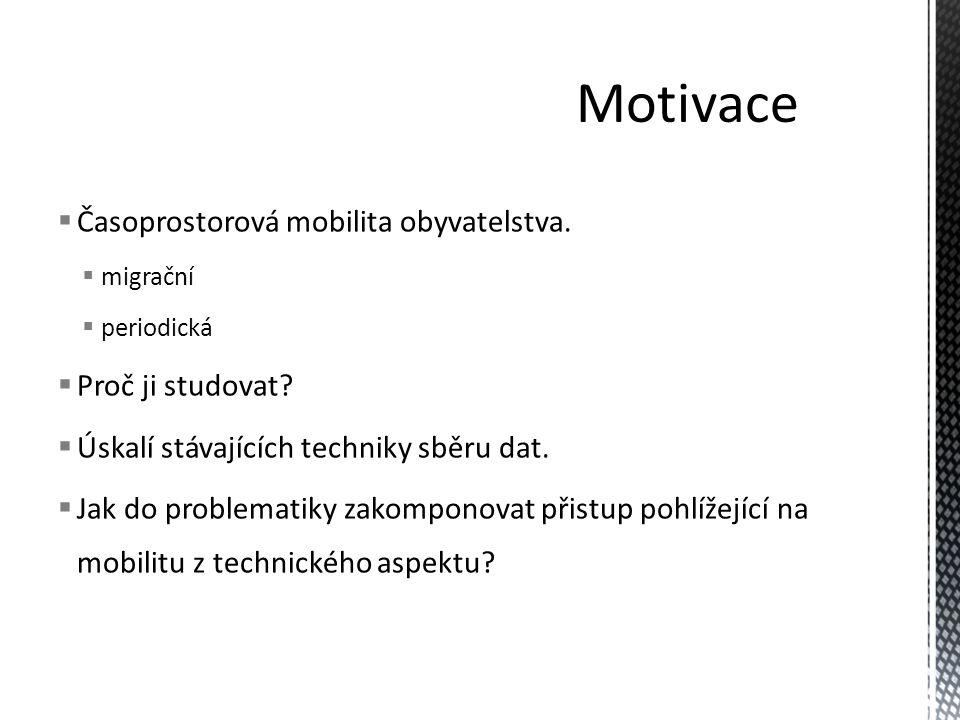 Motivace Časoprostorová mobilita obyvatelstva. Proč ji studovat