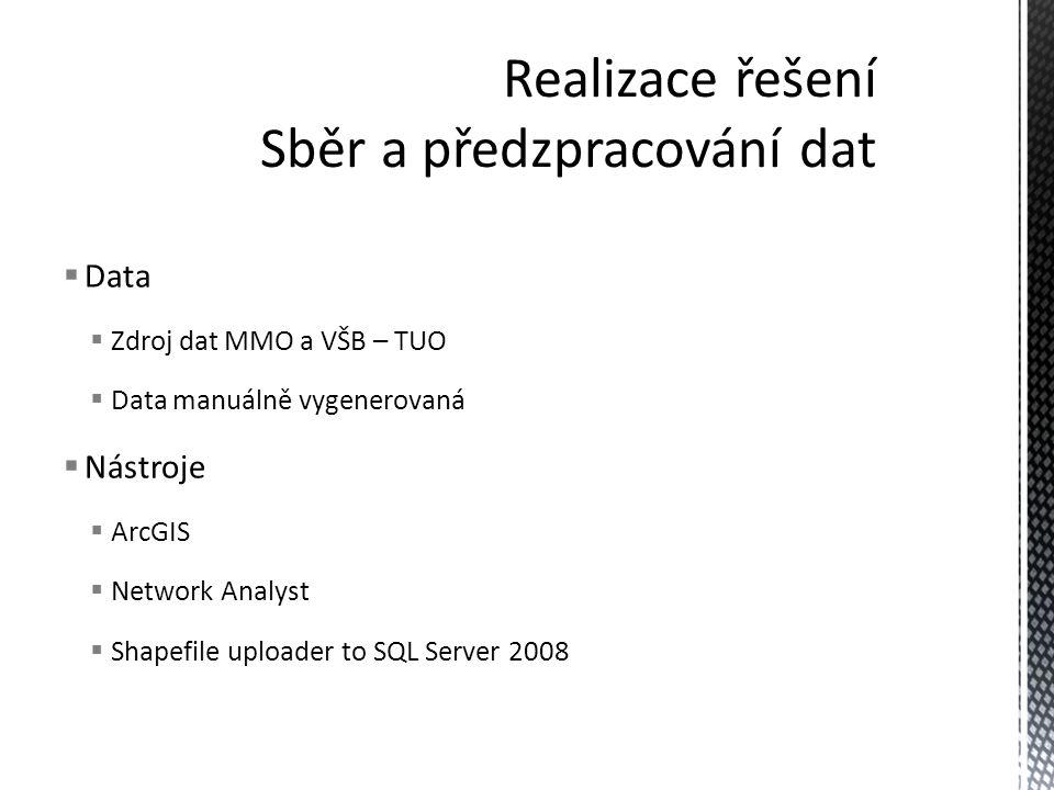 Realizace řešení Sběr a předzpracování dat