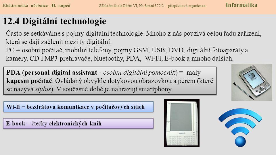12.4 Digitální technologie