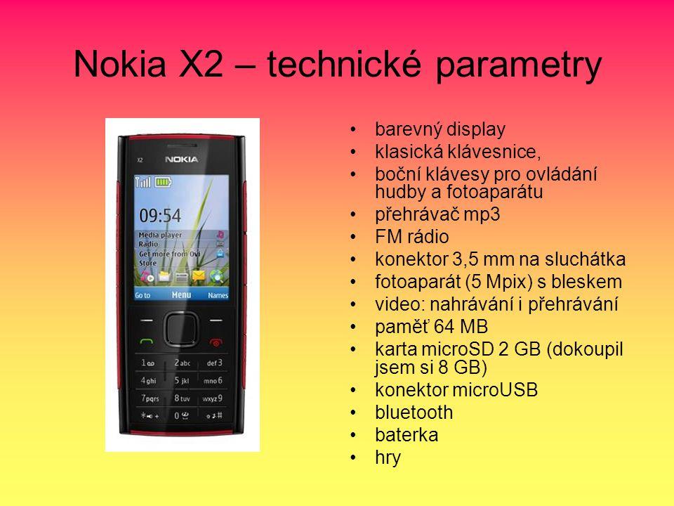 Nokia X2 – technické parametry