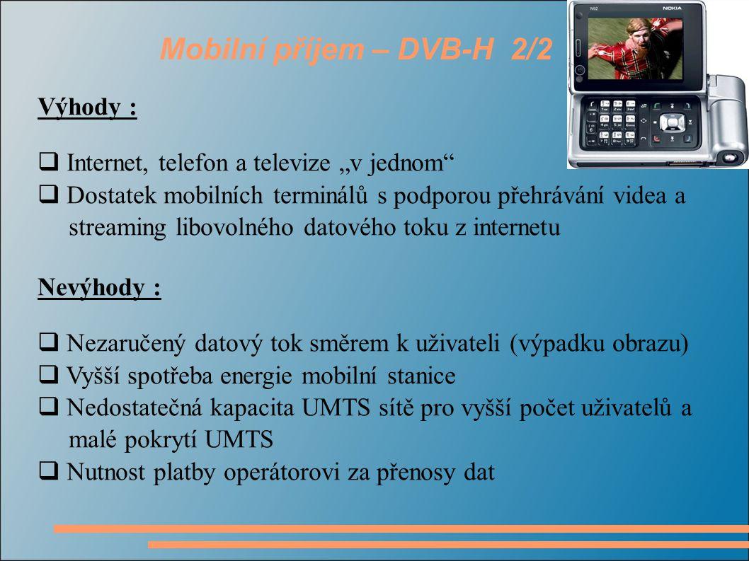 Mobilní příjem – DVB-H 2/2