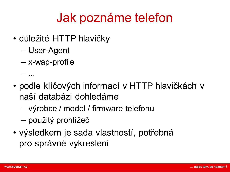 Jak poznáme telefon důležité HTTP hlavičky