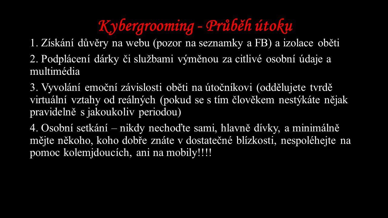 Kybergrooming - Průběh útoku