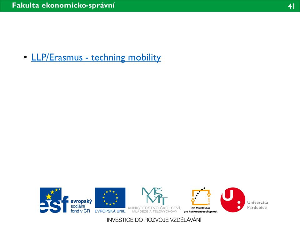 LLP/Erasmus - techning mobility