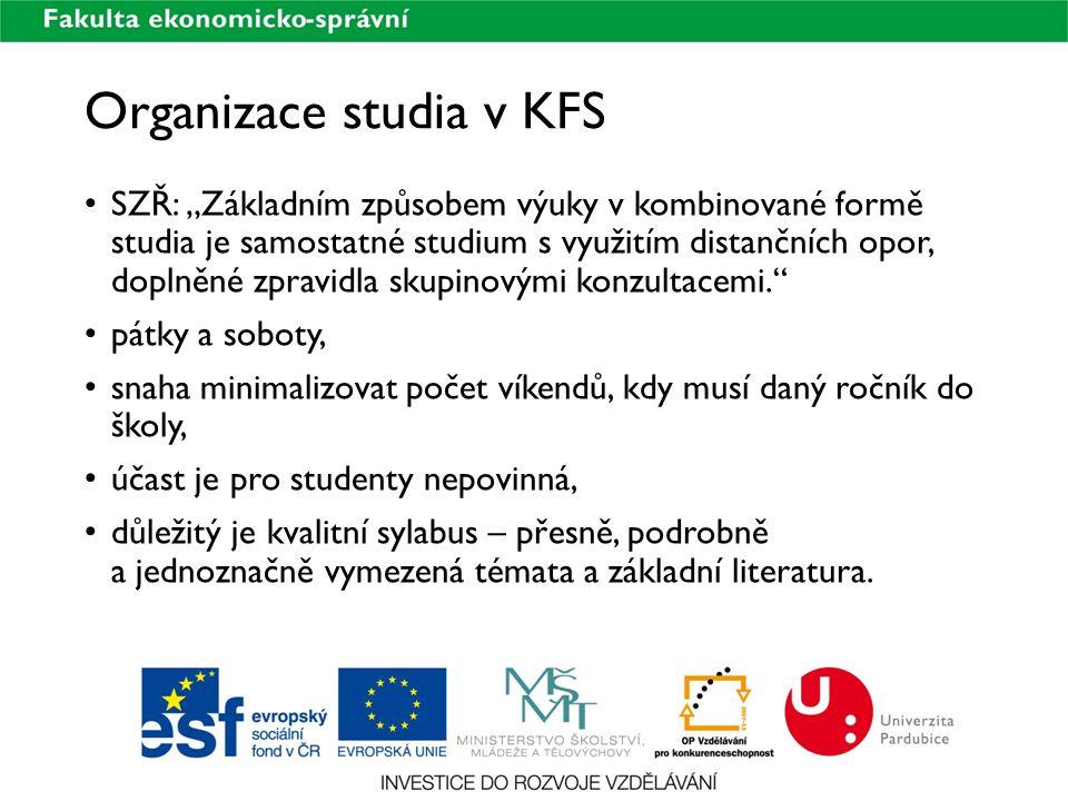 Organizace studia v KFS