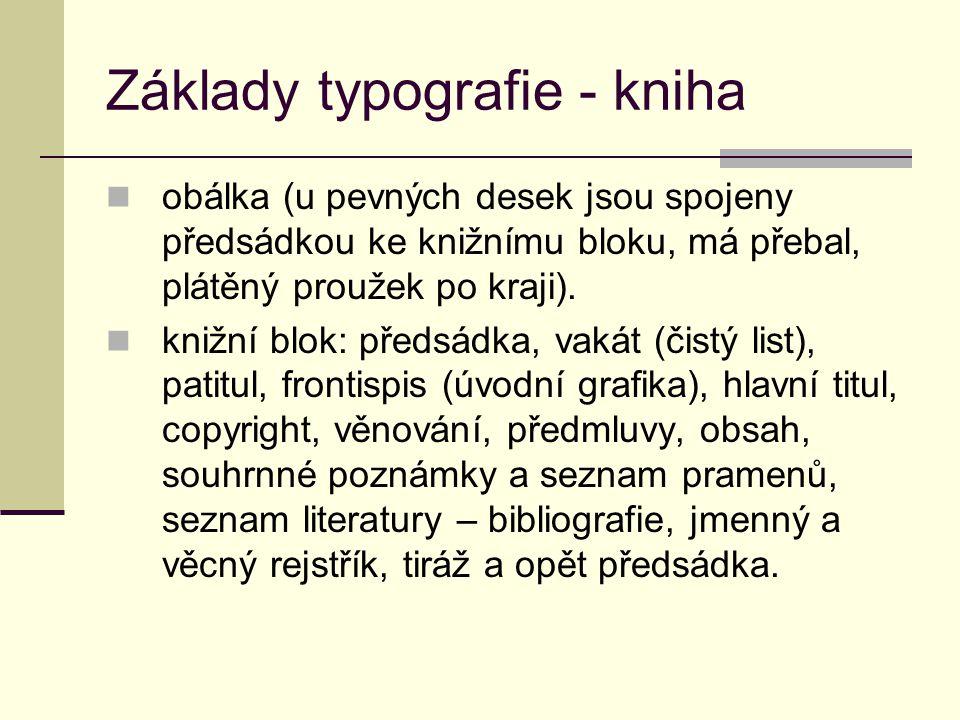 Základy typografie - kniha