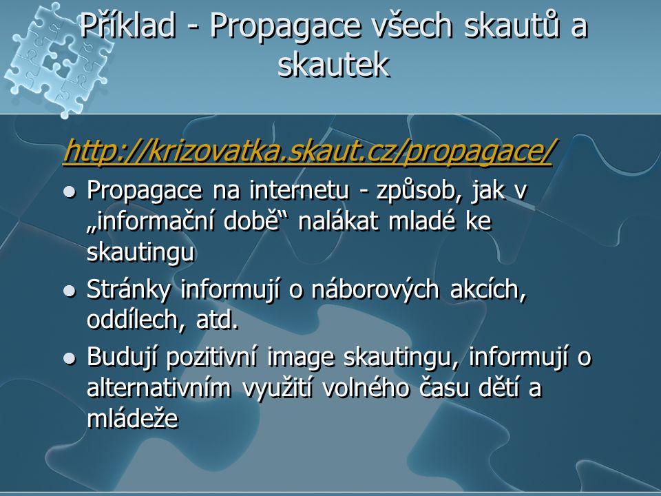 Příklad - Propagace všech skautů a skautek