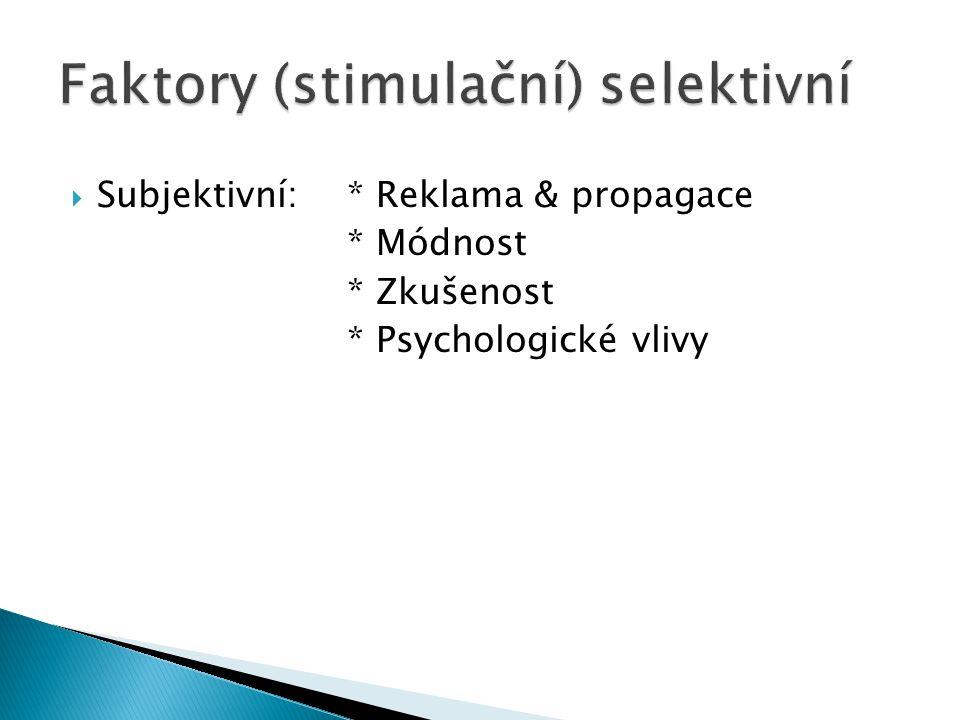 Faktory (stimulační) selektivní