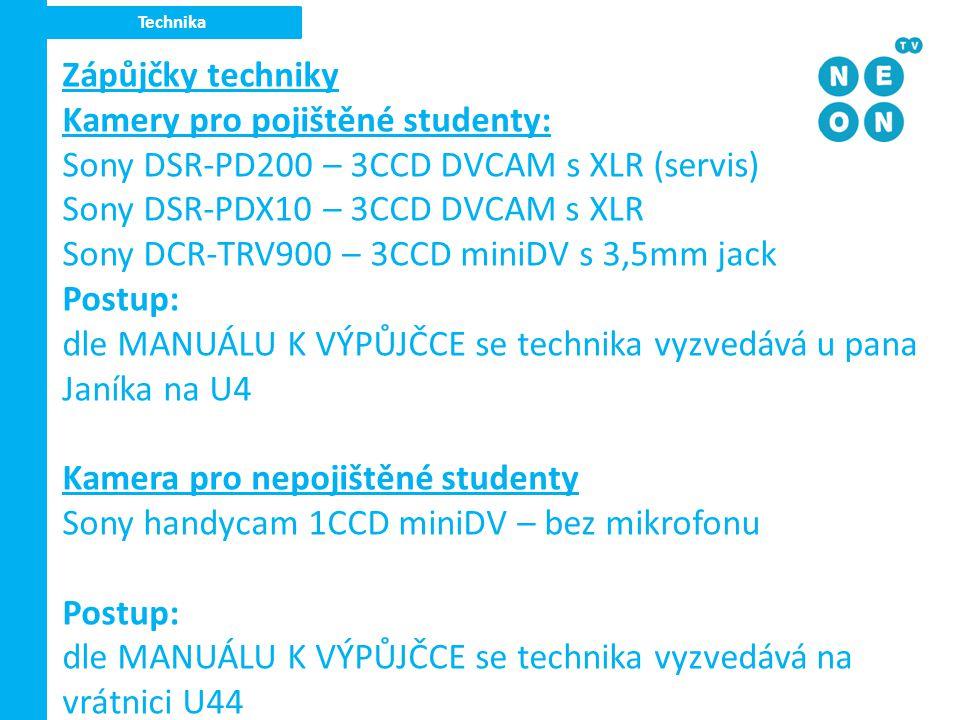 Kamery pro pojištěné studenty: