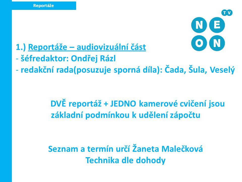 Seznam a termín určí Žaneta Malečková